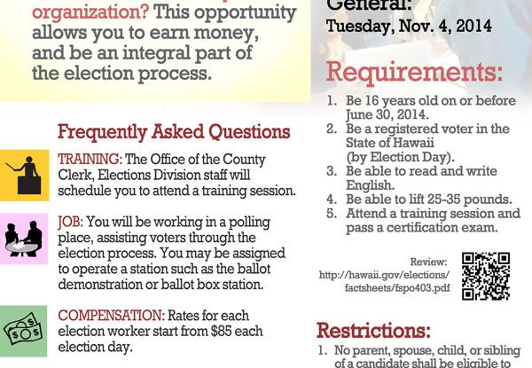 Become a precinct official