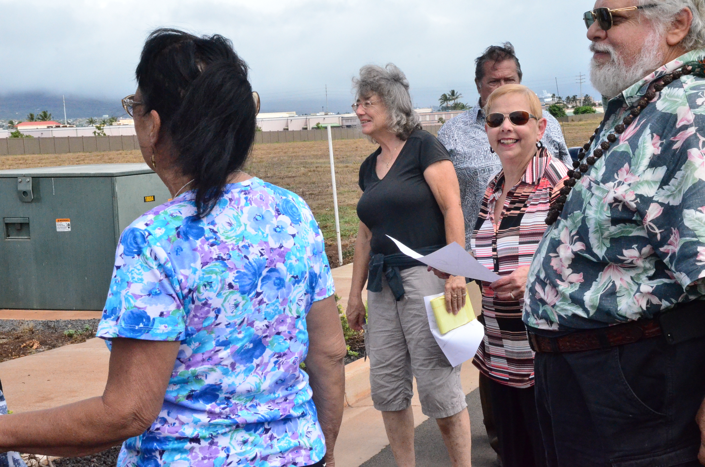 Testifiers provide input during the site inspection