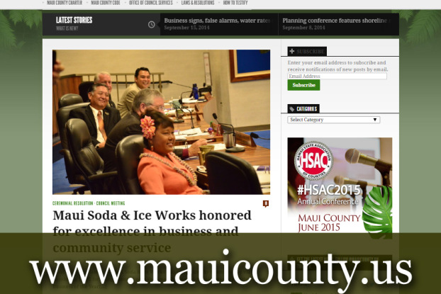 Maui County Council news site