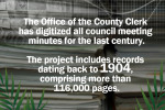 Office of County Clerk has digitized records