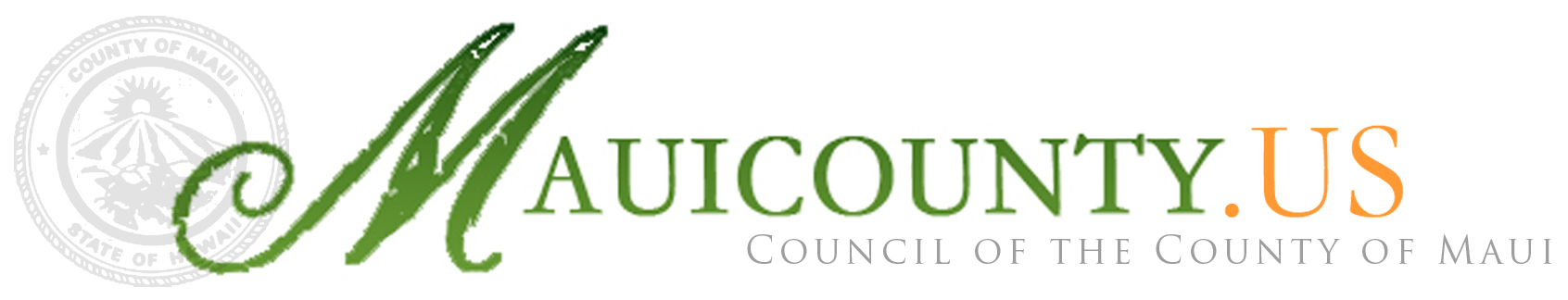 'MauiCounty.us' from the web at 'http://mauicounty.us/wp-content/uploads/2014/10/Header-logo.jpg'