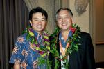 Lt. Gov. Shan Tsutsui and Councilmember Riki Hokama