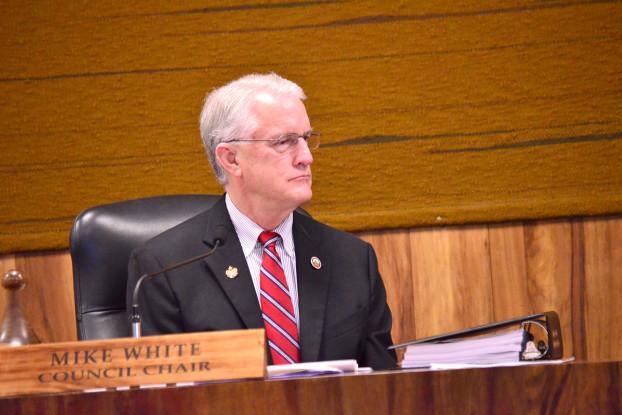 Council Chair Mike White