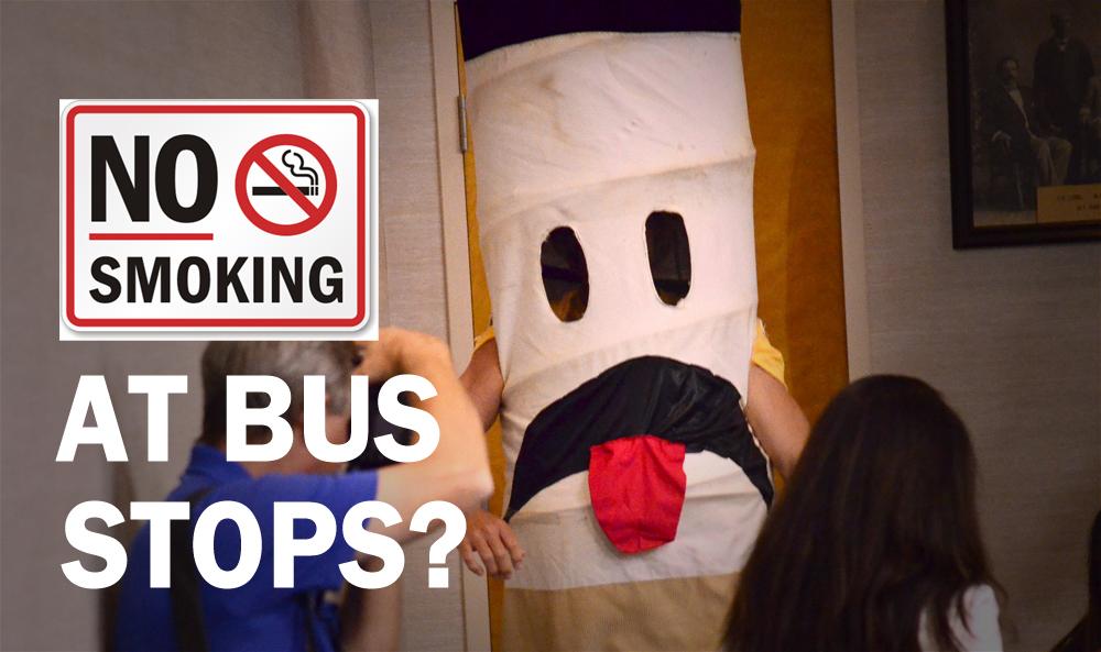 no smoking at bus stops