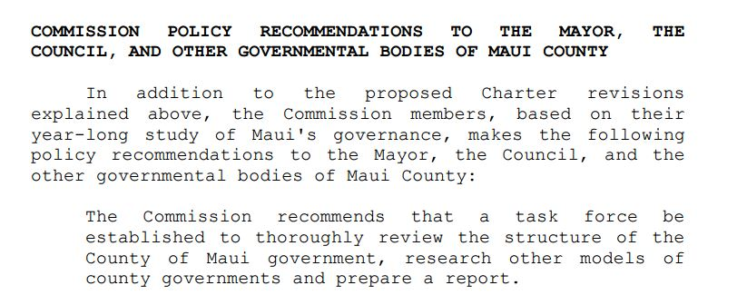 Charter Commission task force