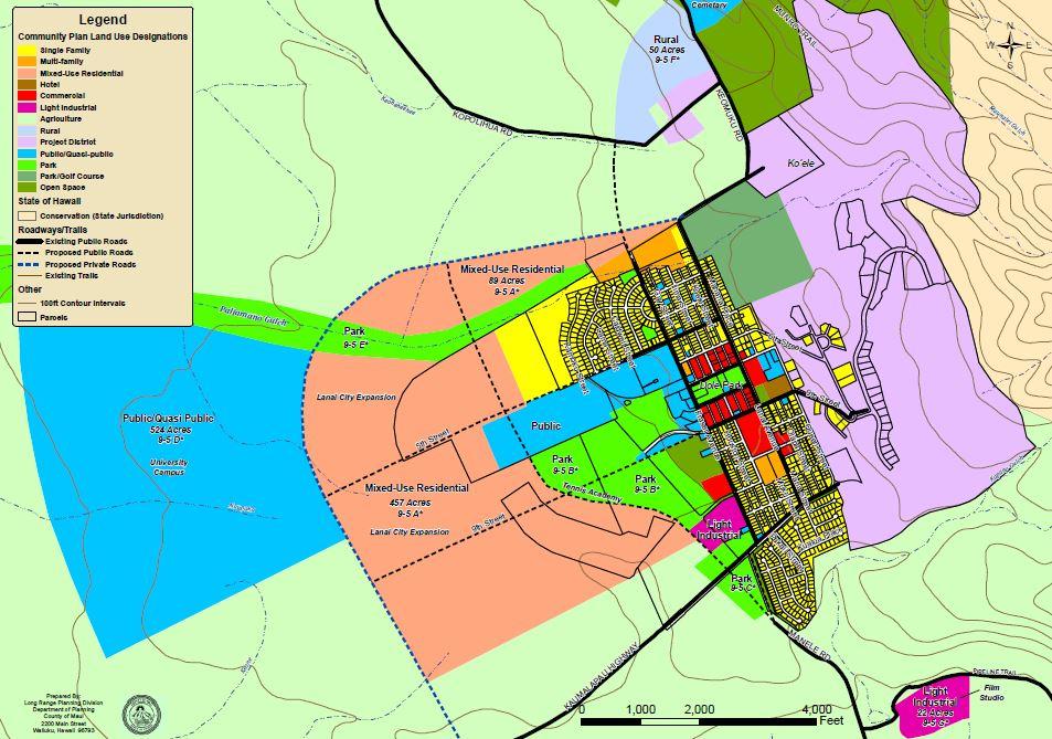 Lanai map