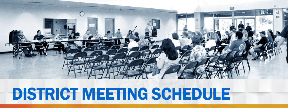 District Meeting schedule