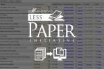 Less paper initiative