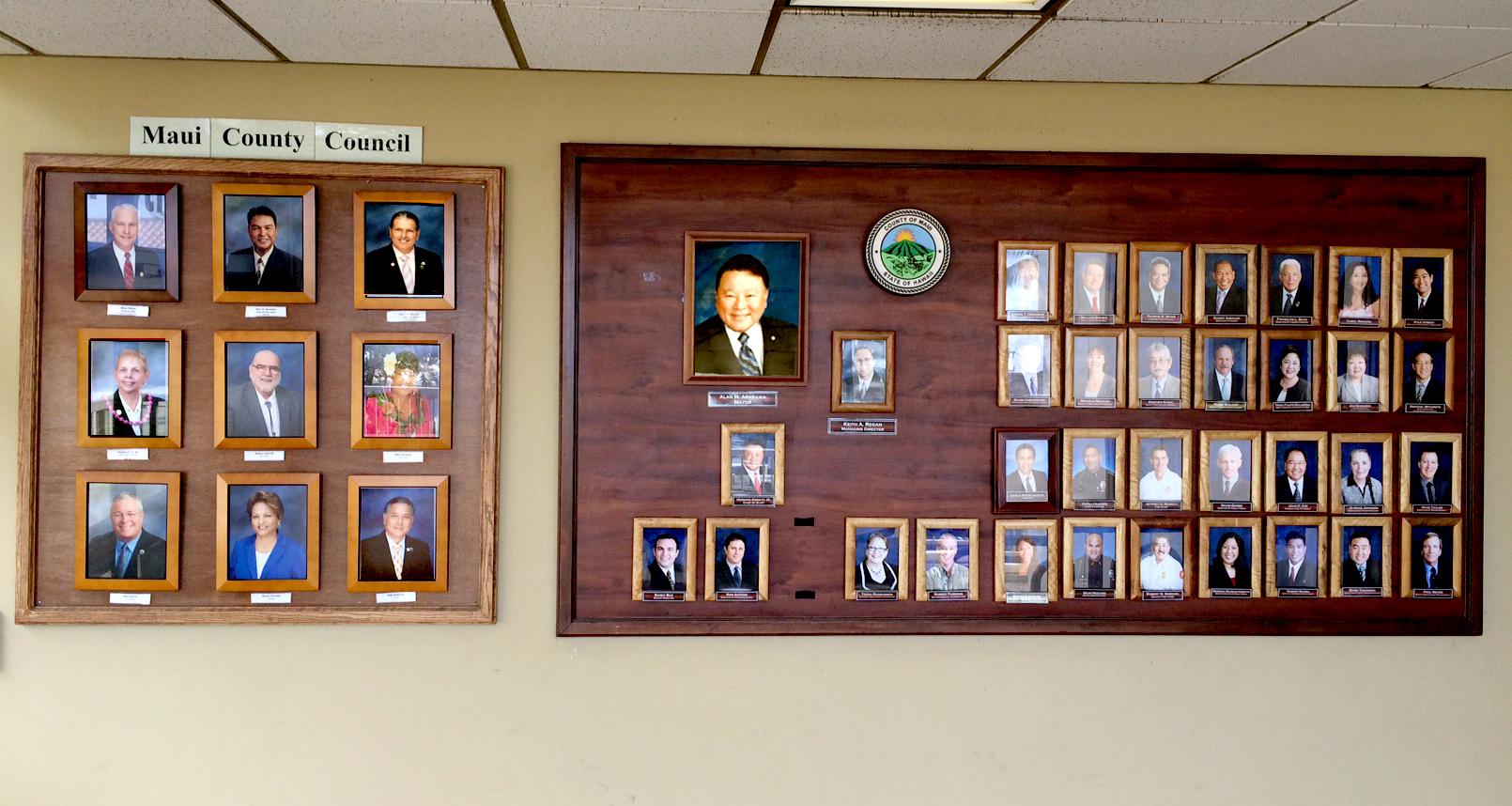 Photos in lobby
