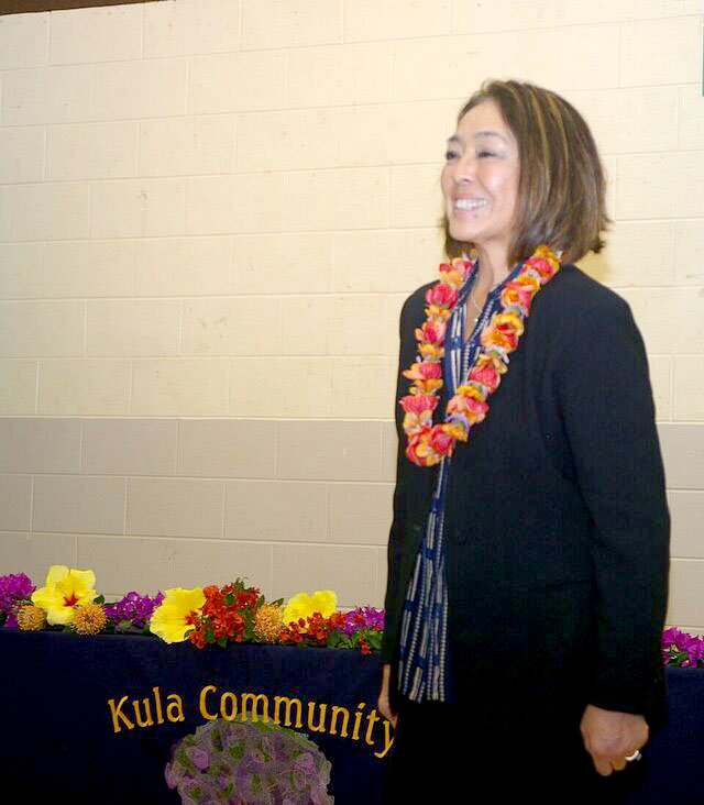 Councilmember Yuki Lei at Kula