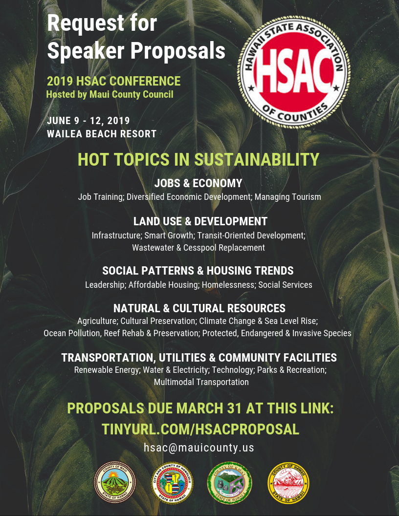 Request for Proposals HSAC 2019
