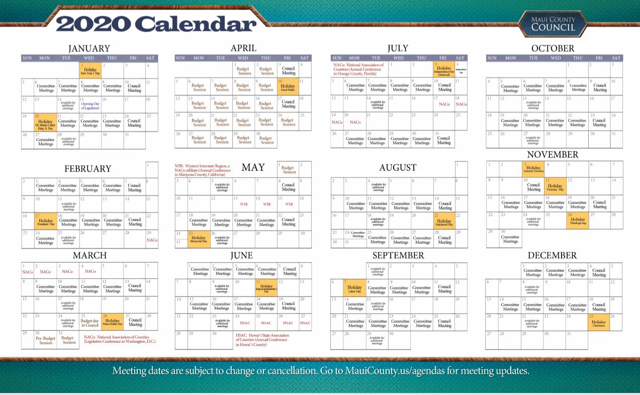 2020 Council Calendar 1
