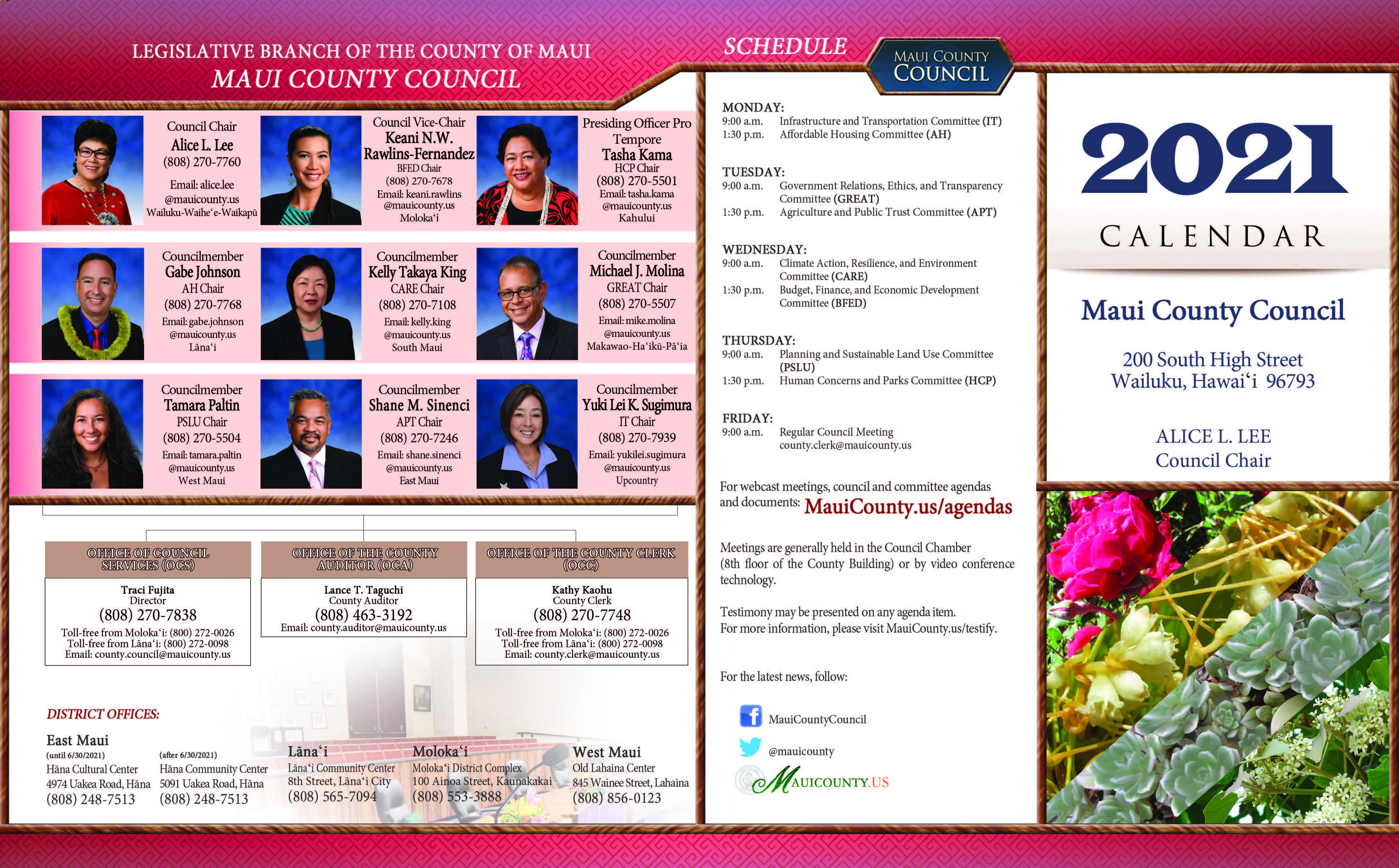 2021 Council Calendar 2